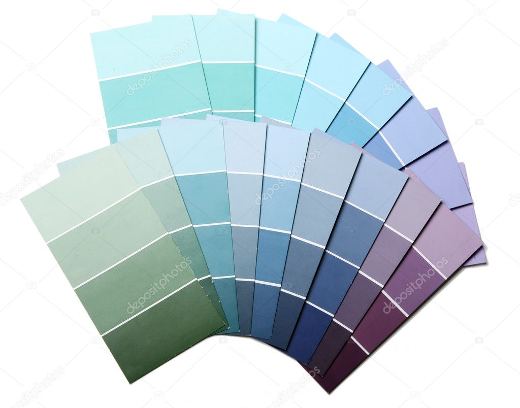 Pantone color palette and roller