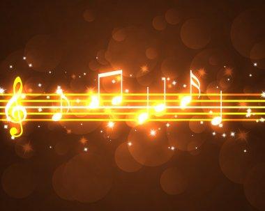 Burning musical symbols