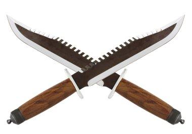 Crossed knives