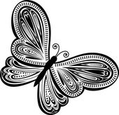 Photo Abstract butterfly vector
