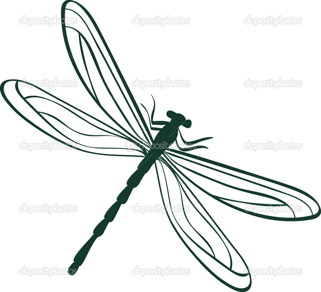 Abstract dragonfly vector illustration — Stock Vector