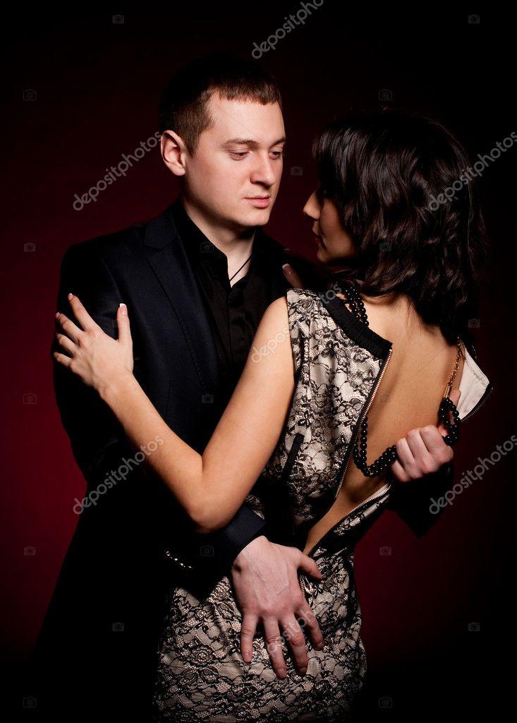 a1628b8b70d7 Μόδα όμορφη φωτογραφία του άνδρα και της γυναίκας — Φωτογραφία Αρχείου