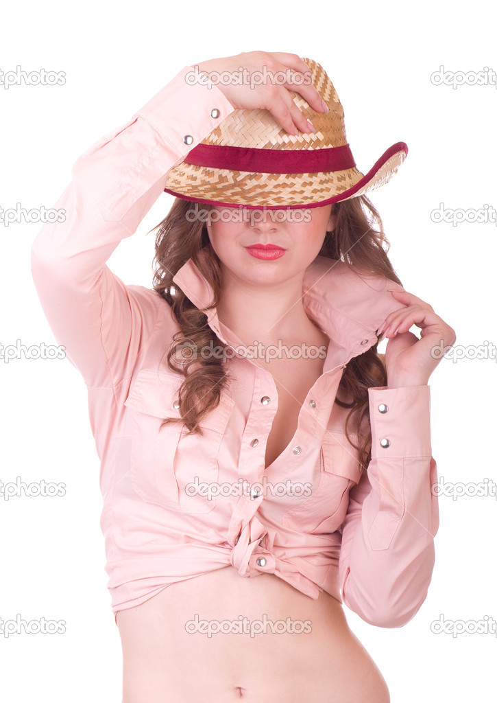 Fat girl with cowboy hat picture — photo 13