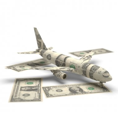 Airplane money origami
