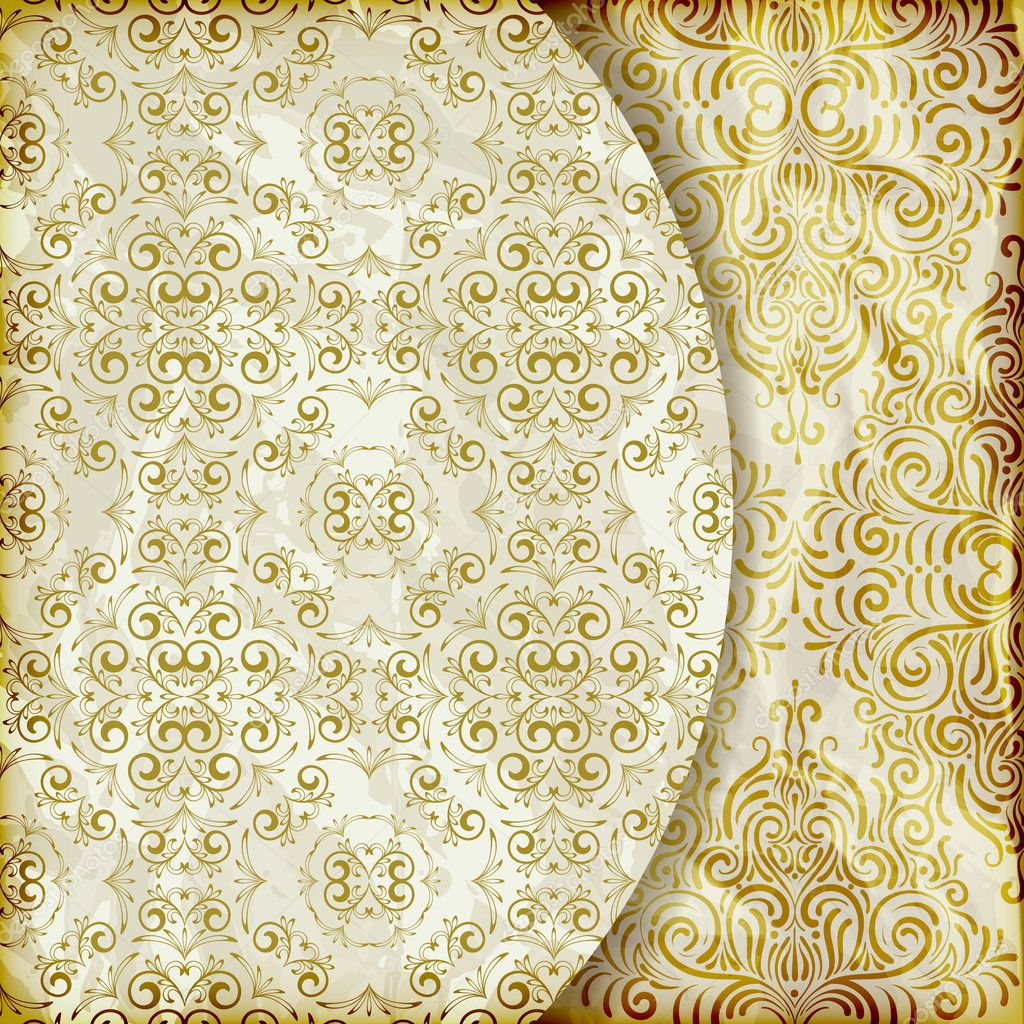 Vector Retro Background With Vintage Floral Patterns Stock