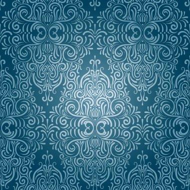 Vector seamless vintage wallpaper clip art vector