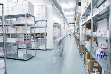 Medical factory supplies storage indoor