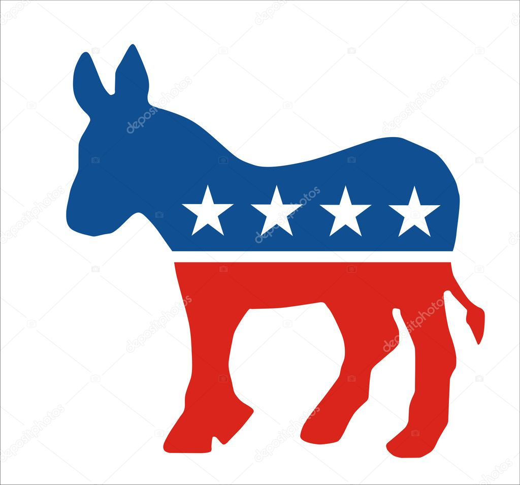 Democratic The Symbol For The Democratic Party In The Us