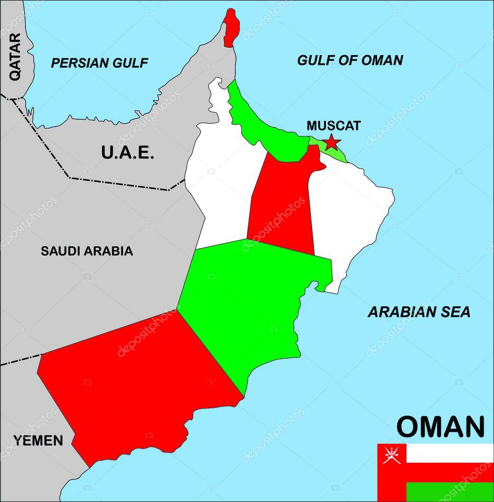 Oman Map Stock Photo Tonyurban - Oman map download