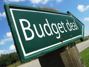 Budget deal road sign