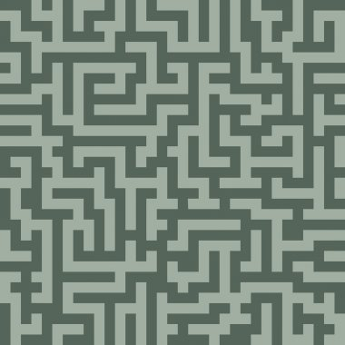 Labyrinth, abstract seamless pattern