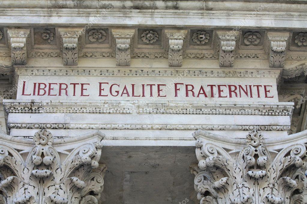 Souvent Liberté, égalité, fraternité inscription in townhall Avignon  TM95
