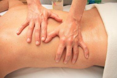 Massage of male back