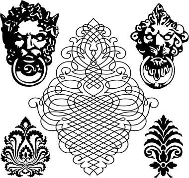 the vector medieval symbol set