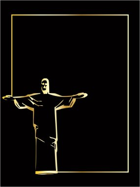 He vector iesus christ rio de janeiro statue silhouette clip art vector