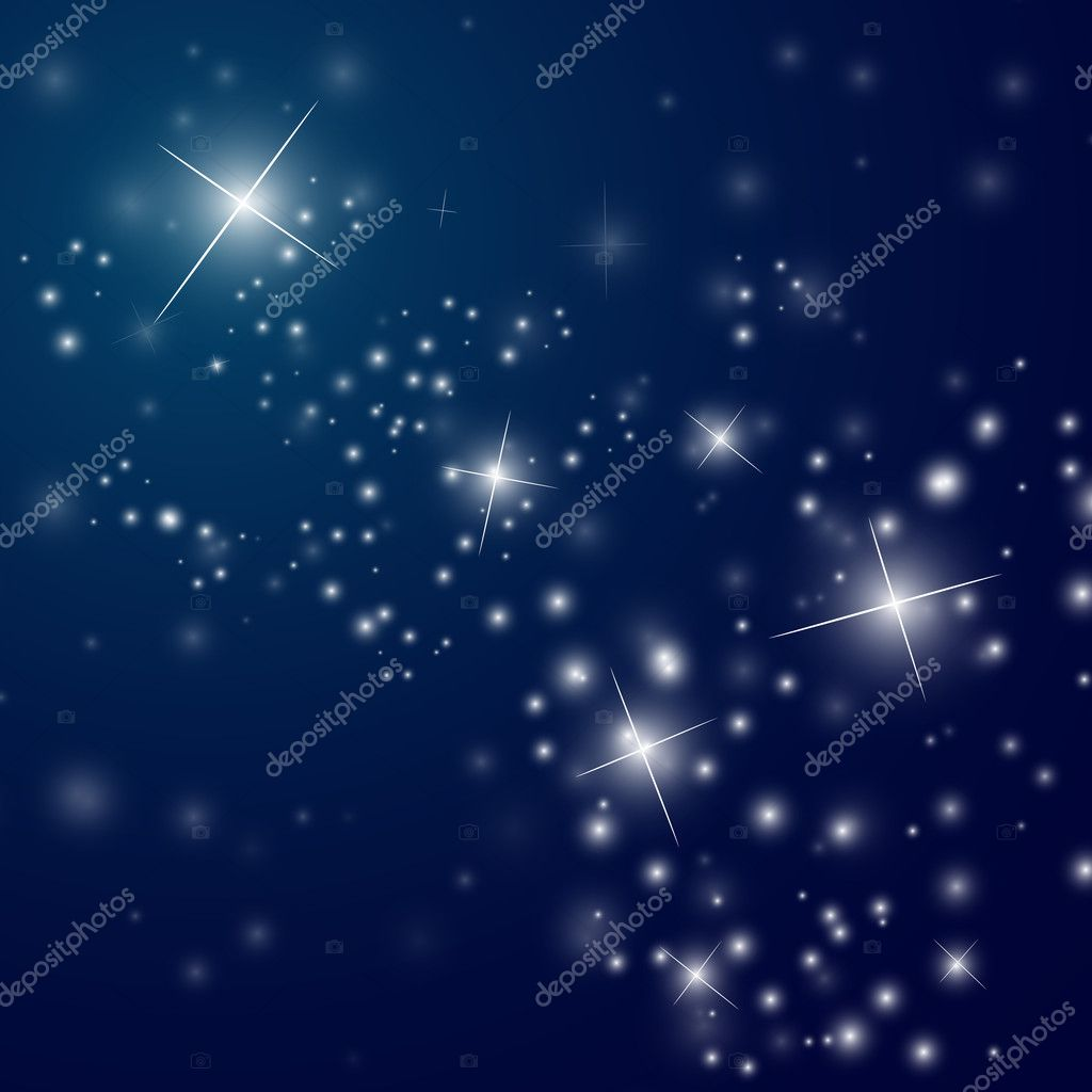abstract starry night sky