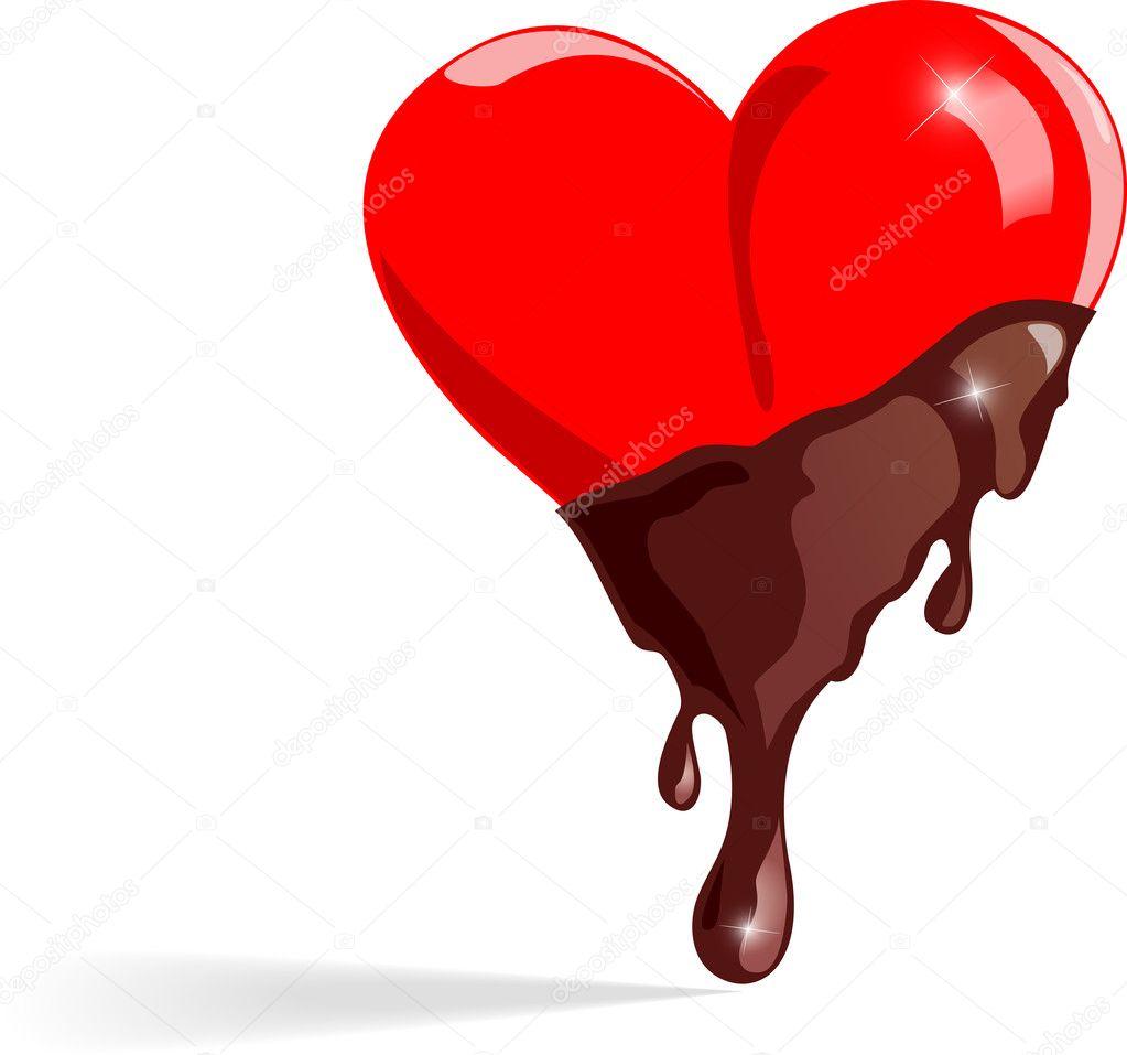 Chocolate hearts - Vector illustration