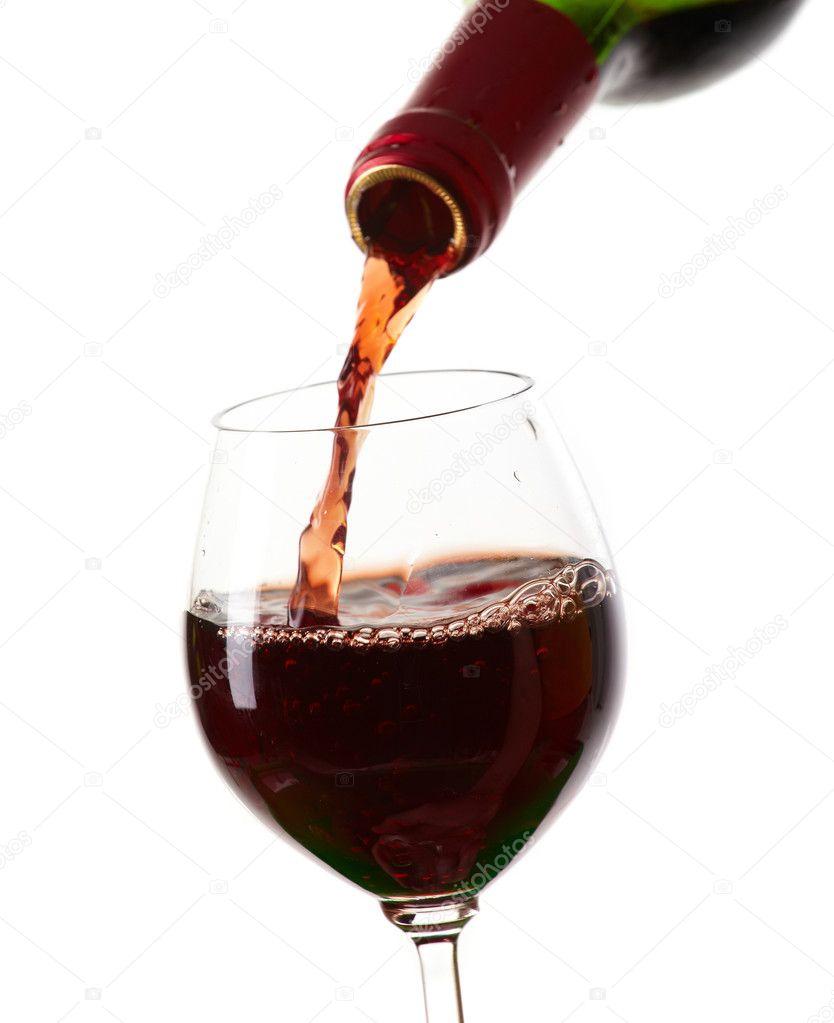 Llenar un vaso copa de vino tinto foto de stock for Copa vino tinto