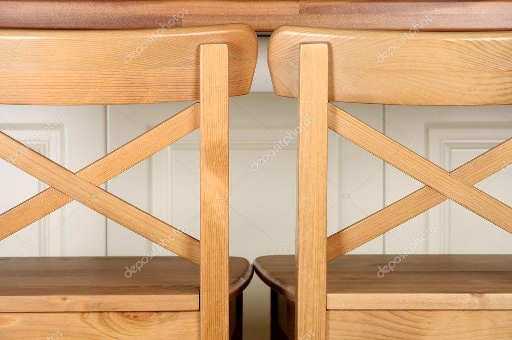 Bar bancone sgabello e cucina in legno u foto stock vladacanon