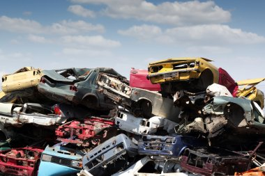 Junk yard with old cars