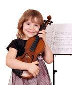 Fényképek Kis lány pózol, hegedű