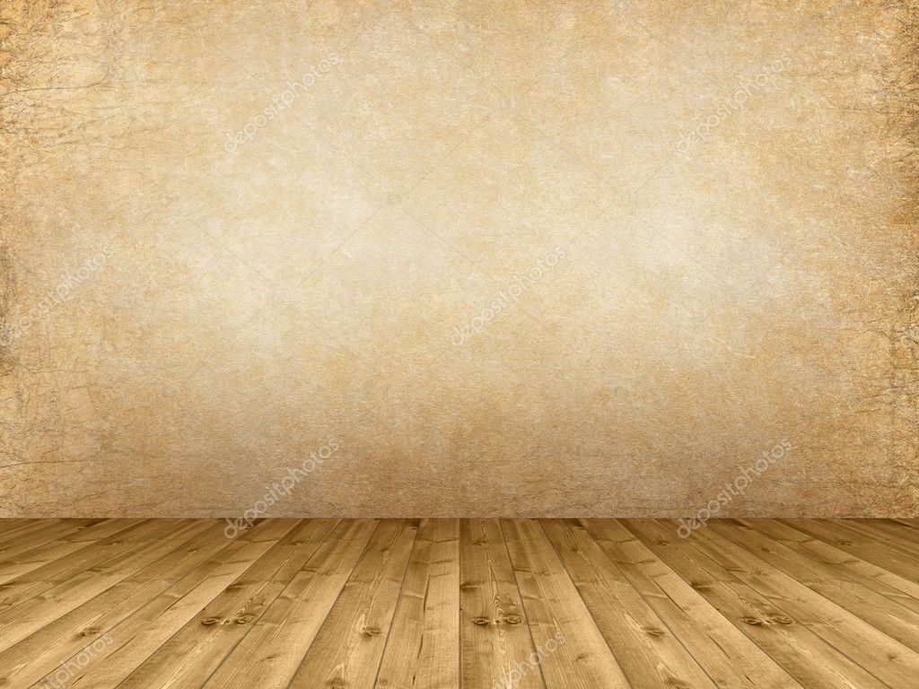 Interior background wooden floor and grunge wall stock for Floor background