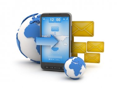 Short Message Service (SMS) - mobile technology illustration