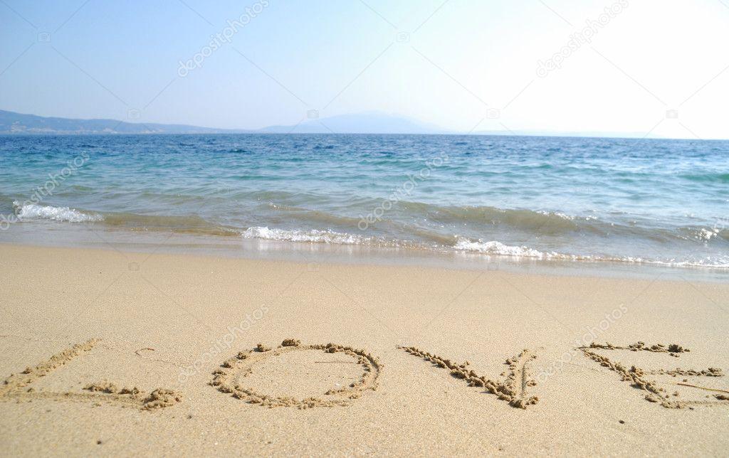 Amor Escrito En Arena: Amor Escrito En Playa De La Arena