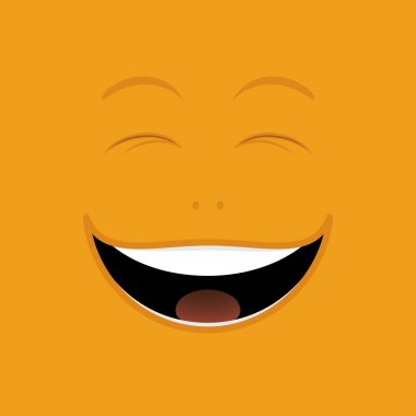 Laughing cartoon face