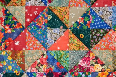 Colorful quilt background