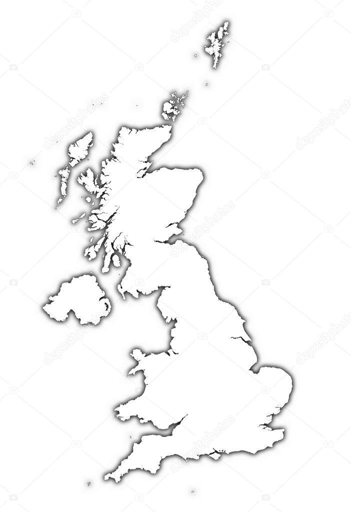 Cartina Gran Bretagna Muta.ᐈ Gran Bretagna Cartina Foto Di Stock Fotografie Gran Bretagna Mappa Raster Scarica Su Depositphotos