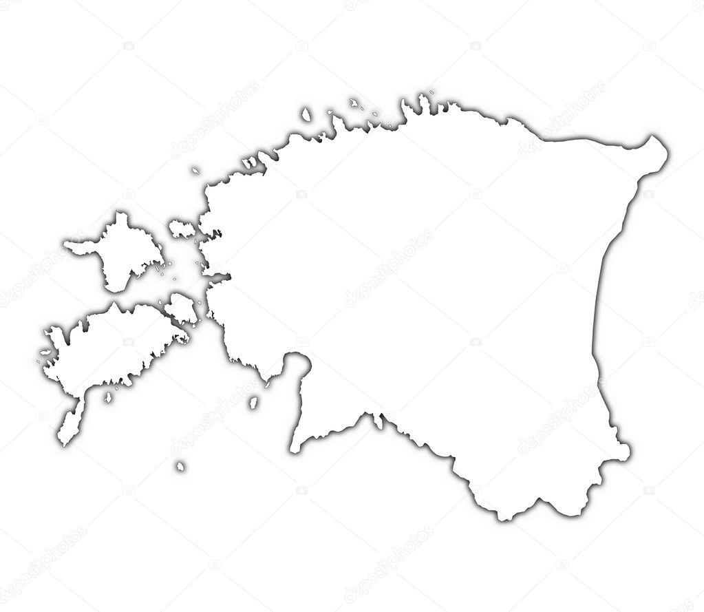 Estonia Outline Map With Shadow Stock Photo Skvoor - Estonia map download