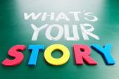 Jaký je váš příběh?