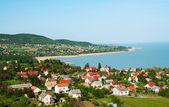 malé vesnice u jezera balaton, Maďarsko