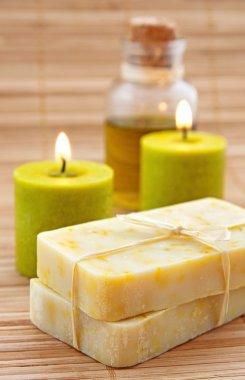 Hand-made marigaold soap