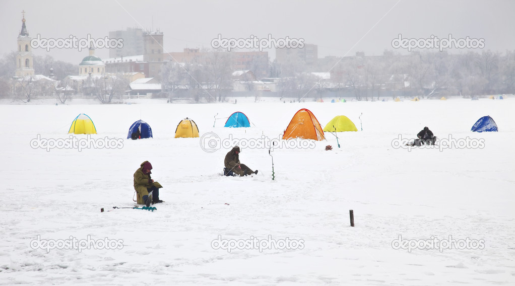 Fishermen on ice