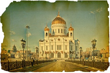 Under old times. Cathedral of Christ the Saviour