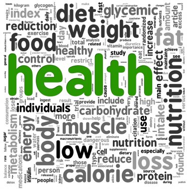 Health concept in tag cloud