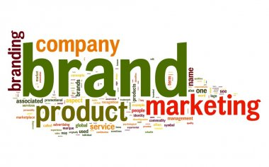 Brand concept in word tag cloud