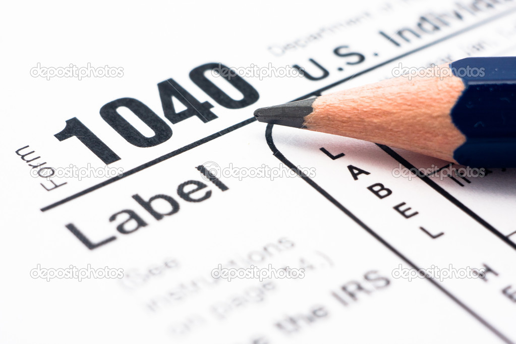 Filling In Tax Form 1040 Stock Photo Olechowski 8599028