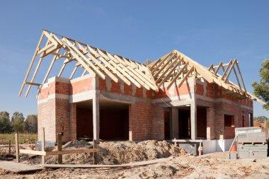 Unfinished house of brick