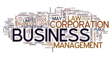 Business word in tag cloud