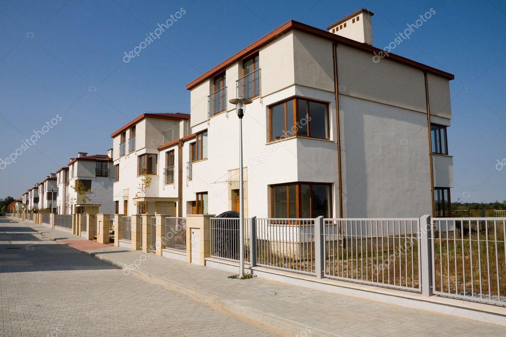 Reihe Von Neuen Häusern U2014 Stockfoto