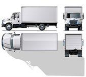 Szia részletes szállítási vektor / rakomány teherautó.