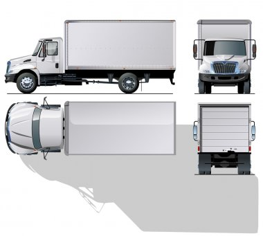 Vector hi-detailed delivery / cargo truck.