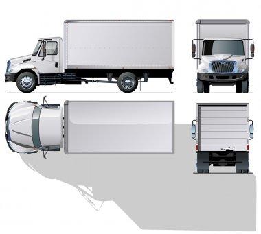 Vector hi-detailed delivery / cargo truck.