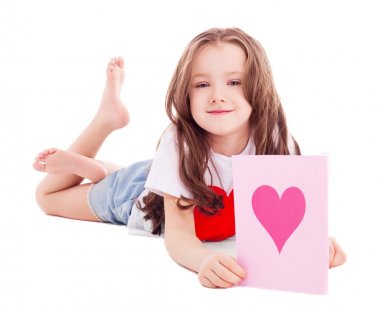 Girl with a Valentine's card