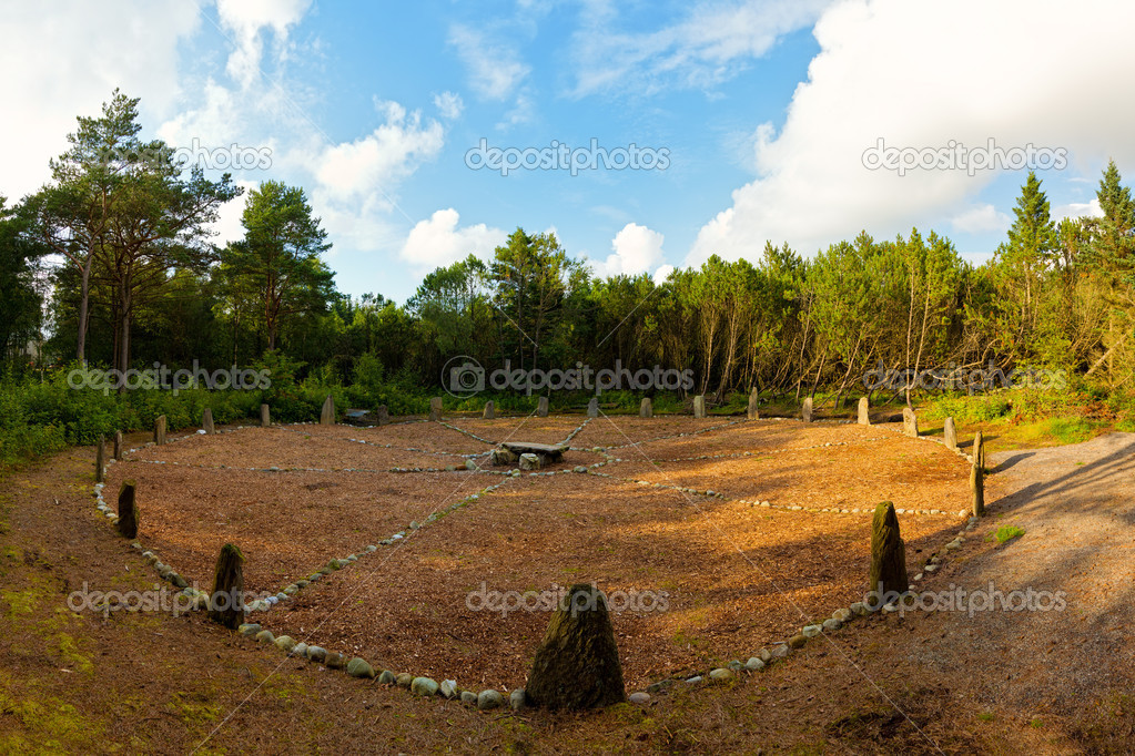 The Stone Circle in Sola, Rogaland, Norway.