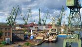Fotografie Danziger Werft in einem panorama