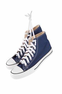 Pair of new blue sneakers